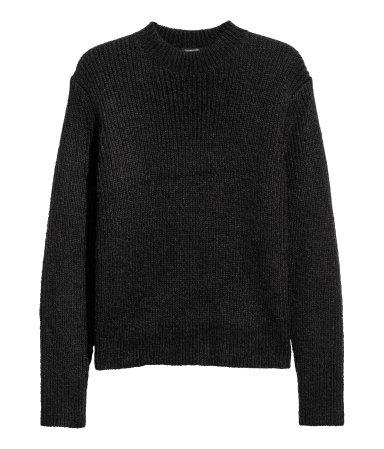 Strikket genser.