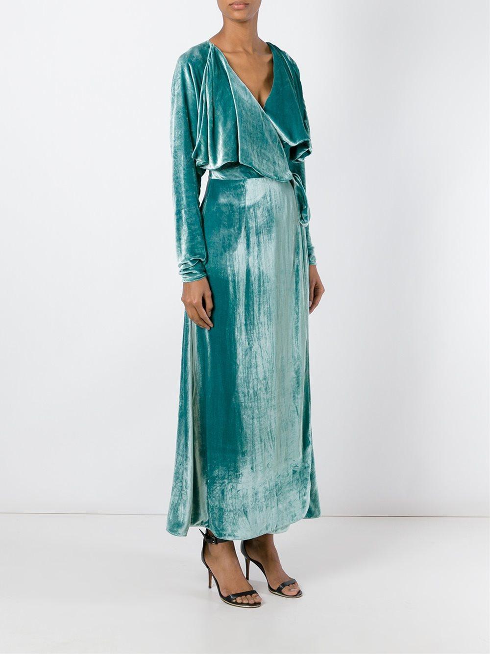 Long sleeved wrap dress