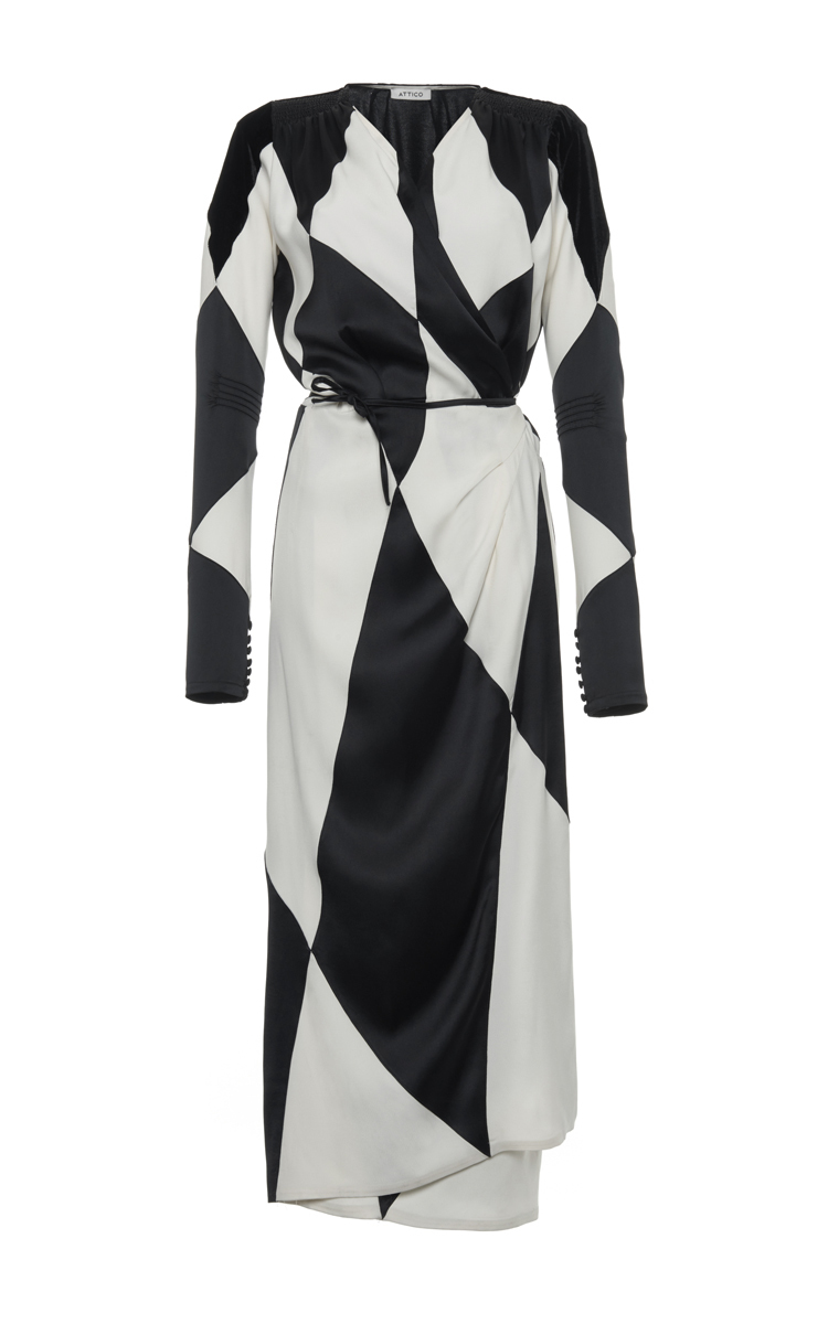 Jane Satin And Velvet Long Dressing Gown
