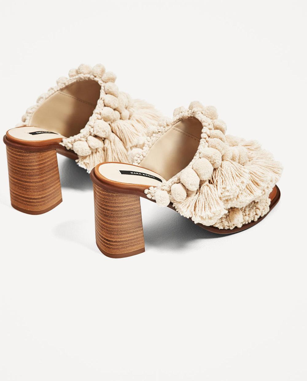 Høyhælte sko.