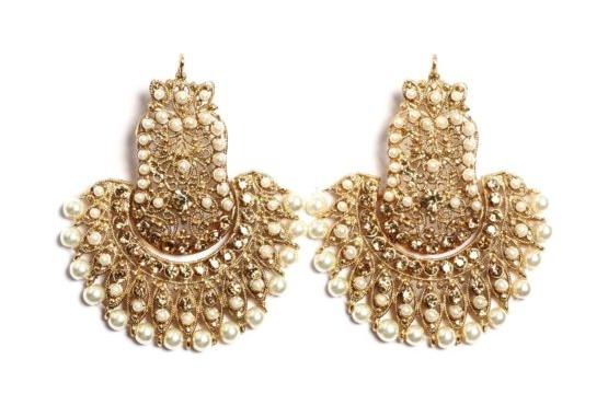 Peacock Earrings Pearl