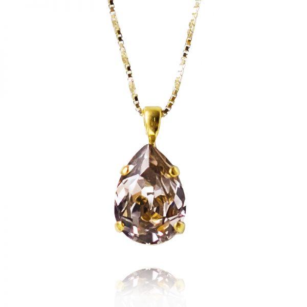 Mini drop necklace.