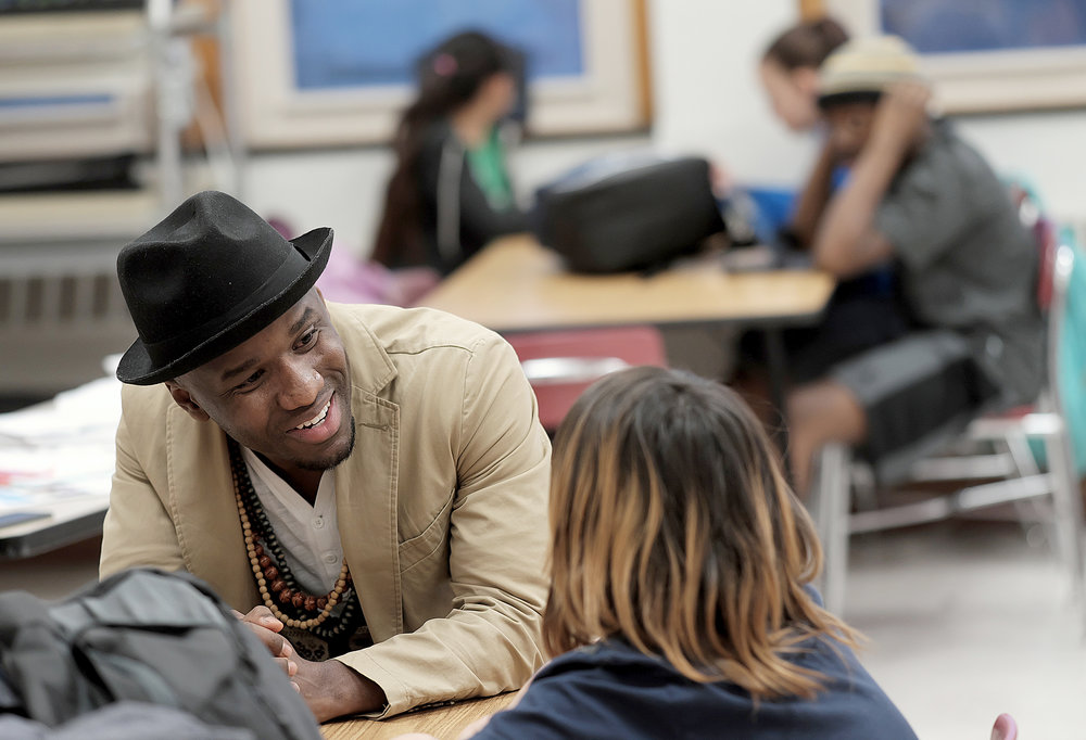 "Niles teaches an after-school class called ""Hip-Hop, History and the Arts""   at several Twin Cities schools.  Photo by David Pierini"