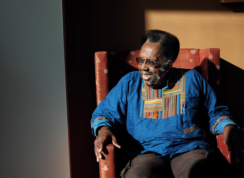 Leon Wallace feels lucky to have found affordable housing at St. Anne's Senior Community.   Photo by David Pierini