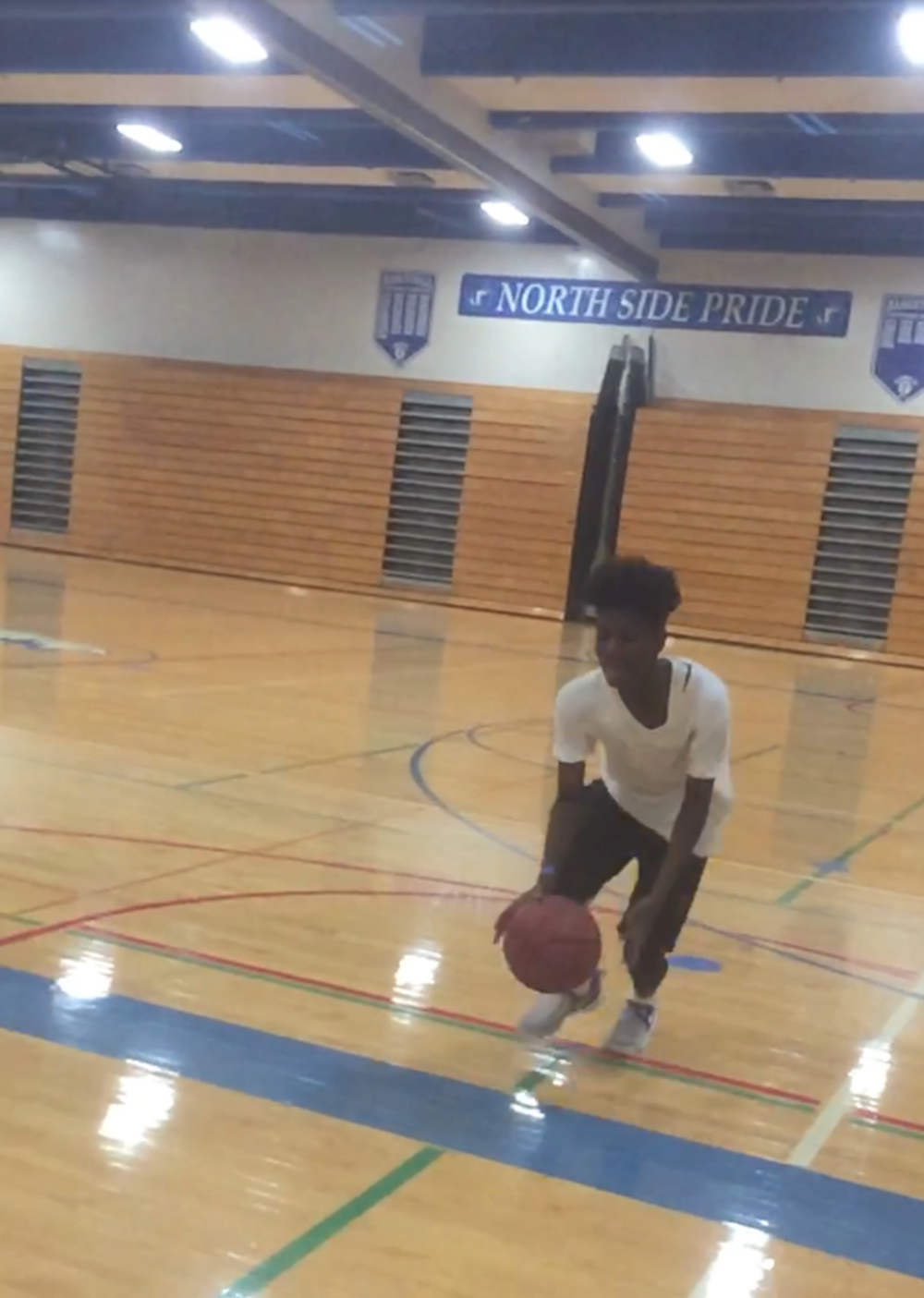 I practice on my own every day of the week but Fridays. That's when I play with my AAU team. This is me working out after school at North High just to get to the next level.  Greatness is not going to be handed to you. It's up to you if you are going to put in the work to get to the next level in your future. A reason I work out after school is because I know my family wants the best for me, and I have to put in the work to get them out of the hood.