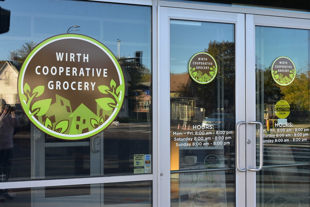 """Wirth Co-op, located on the corner of Penn and Golden Valley Road, was open for less than a year before it """"temporarily"""" closed. The organization's leaders say there's stll a possibility it could reopen.  Photo by Cirien Saadeh"""