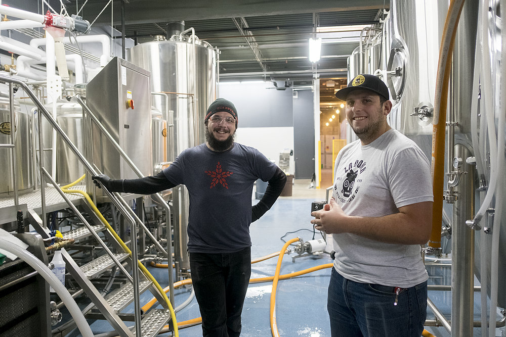 Sergio Manancero, right, started the brewery and made his first important hire in head brewer, Dickie Lopez, who has brewing experience with three Twin Cities craft breweries.