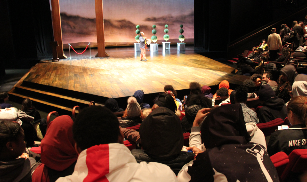 """North High freshmen went to the Guthrie Theater to see the Shakespeare play As You Like It on Feb. 21. """"I learned that everybody can't get what they want but everybody can get something in the end,"""" said freshman Joy Cunningham.  Photo by Samuel Wilbur"""