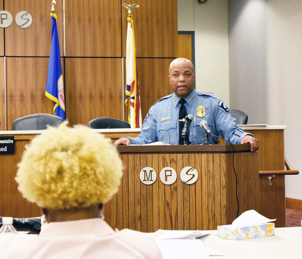 Minneapolis Police Chief Medaria Arradondo says he is committed to finding an inspector who is the right fit for the community.  Photo by Kenzie O'Keefe