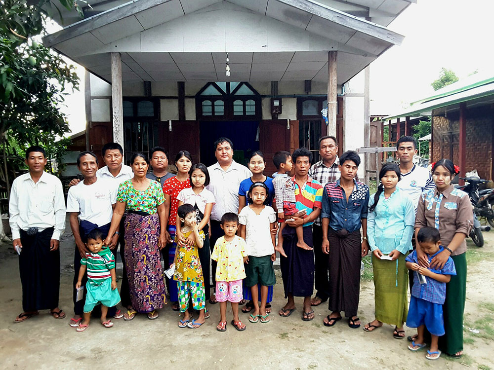 Families who have experienced persecution in Myanmar who Firefall supports.