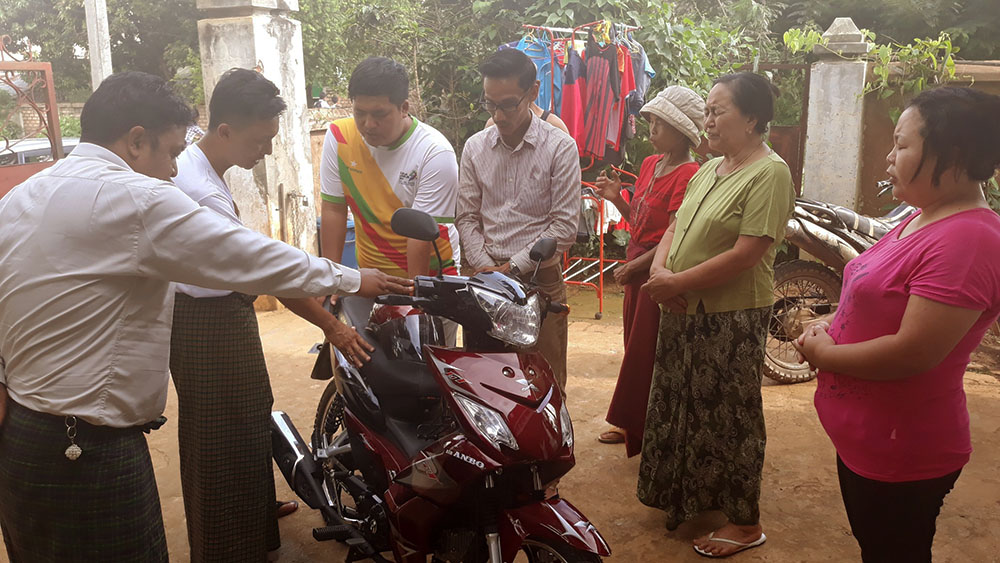 Prayer for dedication of the motorbike for village ministry