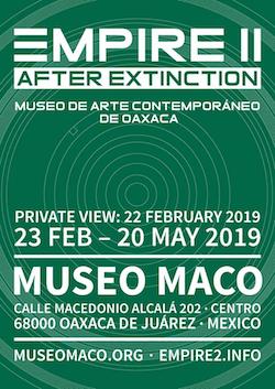 https://museomaco.org  https://museomaco.org/2019/02/20/inauguracion-empire-ii-despues-de-la-extincion/