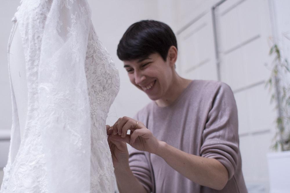 L'Atelier-Bruxelles / Confection sur mesure / robe de mariée