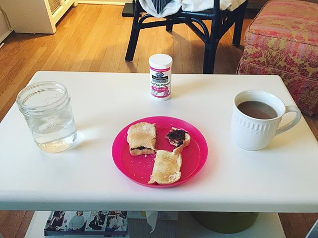 Accidental breakfast altar #probiotics #figbutter #slowmorning #witchesofinstagram