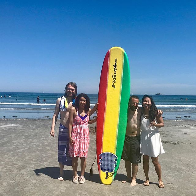 First trip to the Atlantic and first time surfing since I moved!(!!!) SO happy to be back in the water, and today was the first time that I had the thought that this whole Boston thing might actually work... 🤞🏽 . . . Feeling grateful for our great country and the many opportunities we have available to us. Thinking of those that came before us and the choices they made to establish our culture of freedom 🇺🇸 #america #independence #freedom . . . #surfing #surfboston #surfnewengland