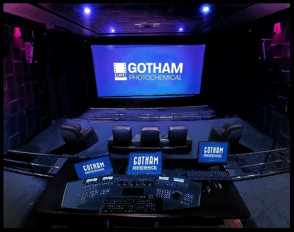 Gotham's State-of-The-Art 4K Digital/35mm DI Room and Mixing Stage  The stage supports professional Immersive Sound Formats such as 5.1, 7.1, Dolby Atmos, IMAX 12.0/6.0, DTS X and Auro 3-D. It is Equipped with a Meyer Acheron Cinema Sound System that consists of a total of 49 speakers. Full capability for 5.1, 6.0, 7.1, 9.1, 11.1, 12.0, 13.1, 24.1, 27.1, 30.1, and 40.1.