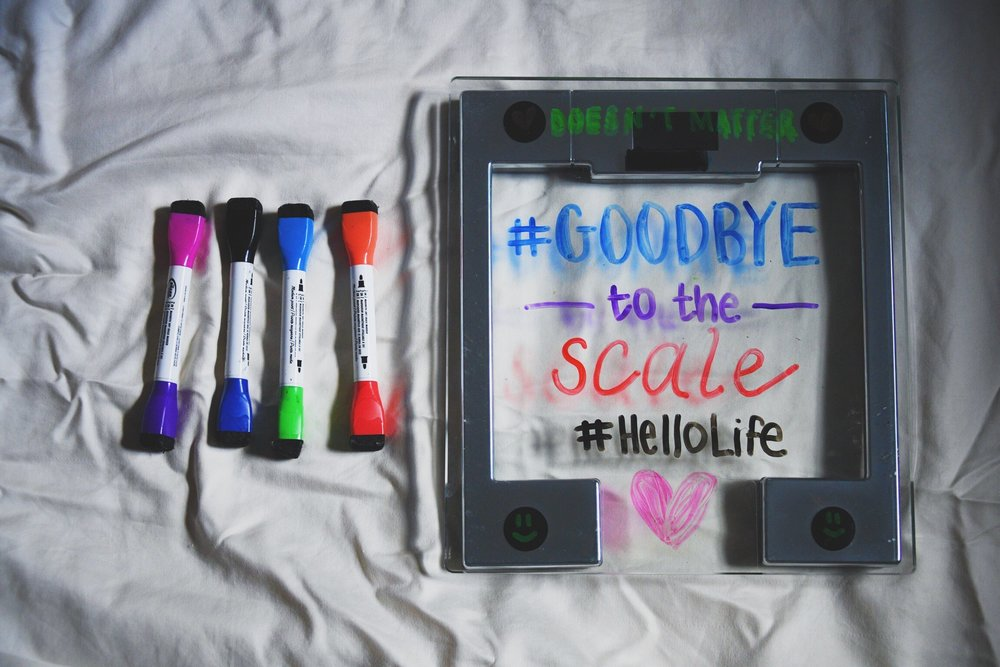 Help support @nourishing.nina in spreading the hashtag #GoodbyeToTheScale on social media!