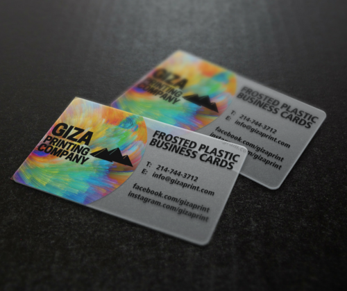 Business cards giza printing company plastic business cards reheart Image collections