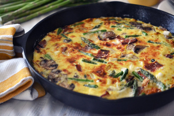 Vegetable frittata (Source:  littlebitesofeverything )