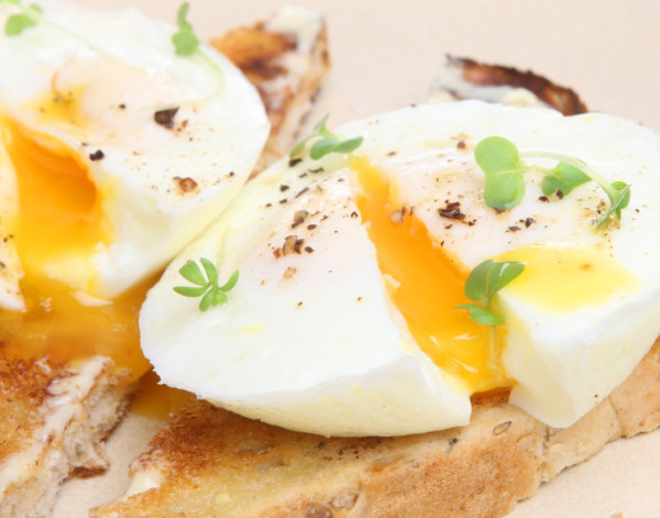 Perfectly poached fresh eggs on warm buttered toast. (Source:lukehoney)