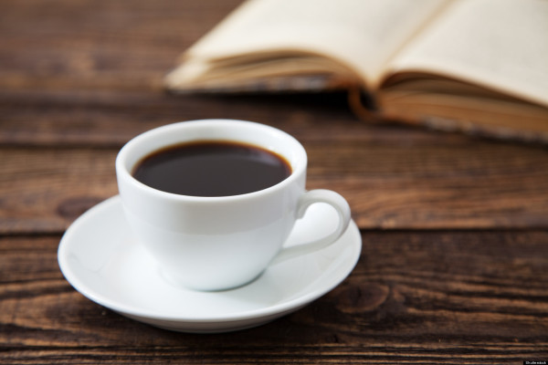 Cup of black coffee and book (Source:nsacs)
