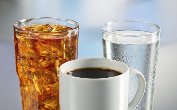 Coffee, ice tea and cold water (Source:garciastudio)