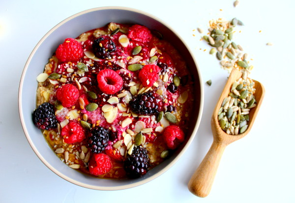 Porridge with berries, nuts and seeds (Source: wordpress )