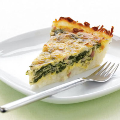Potato crusted quiche (Source:  health )