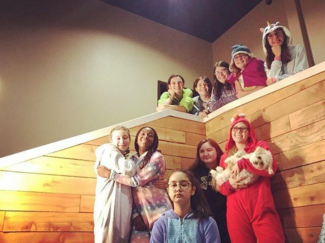 Onesies, Disney, pancakes, Jesus + more...this is how we girl's night! #middleschoolgirlsnight#sonrisesisters#itskoreannotjapanese
