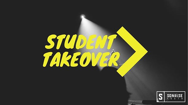 Tonight is going to be unreal! A group of our HS students will be leading the night! You won't want to miss! #sonriseyouth #studenttakeover