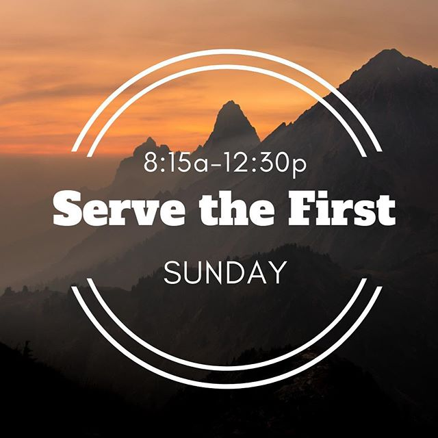 Come serve with us this Sunday as we welcome people to Sonrise! Doughnuts will be provided. #servethefirst