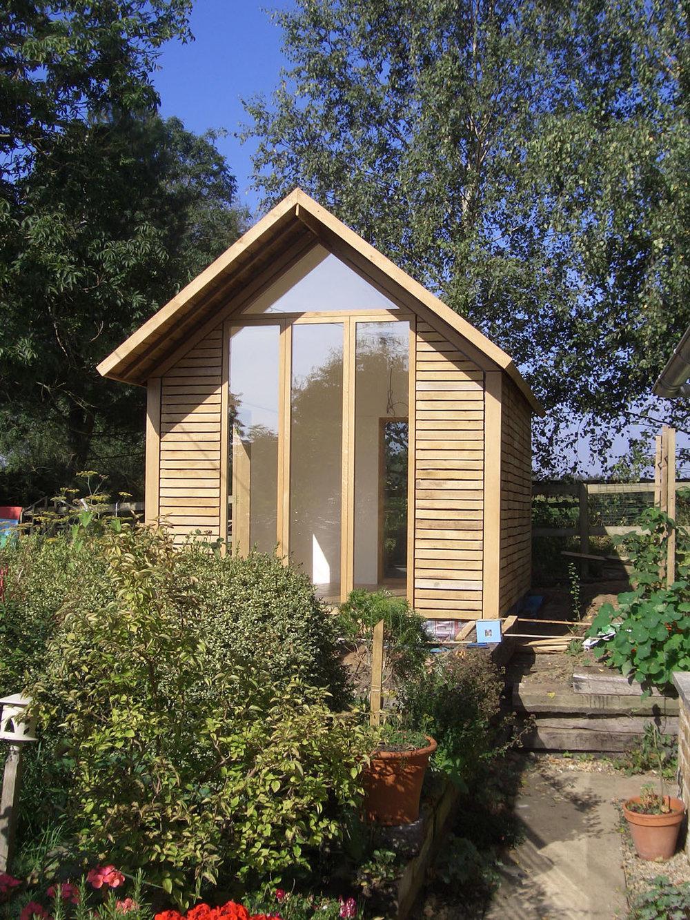 Oak clad garden room