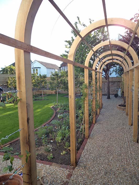 Oak garden arches