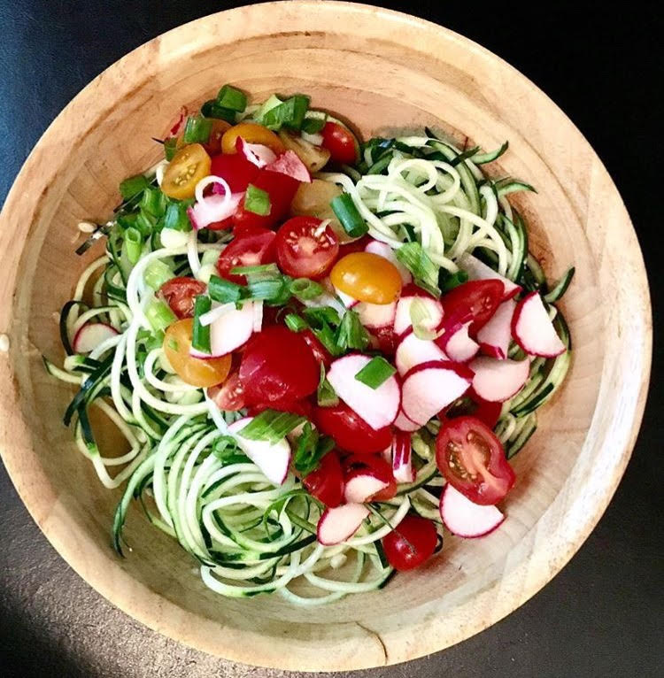 JCB Zucchini Noodle (Zoodle) Salad with Pesto