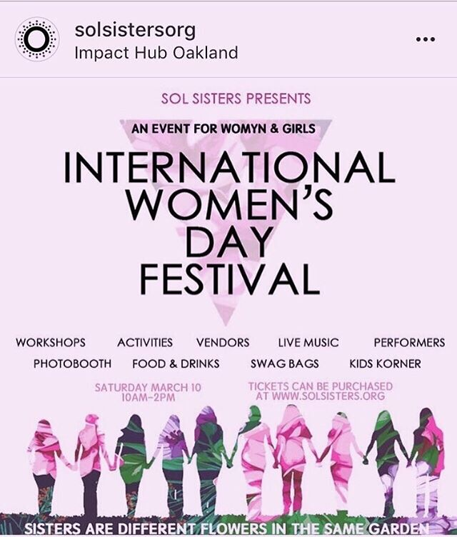 Repost: @solsistersorg 💜 Check out the link in their bio for tickets! . . . #culturalmuse #aspiretoinspire #internationalwomensdayfestival #solsistersorg #womensupportingwomen #womenempowerment