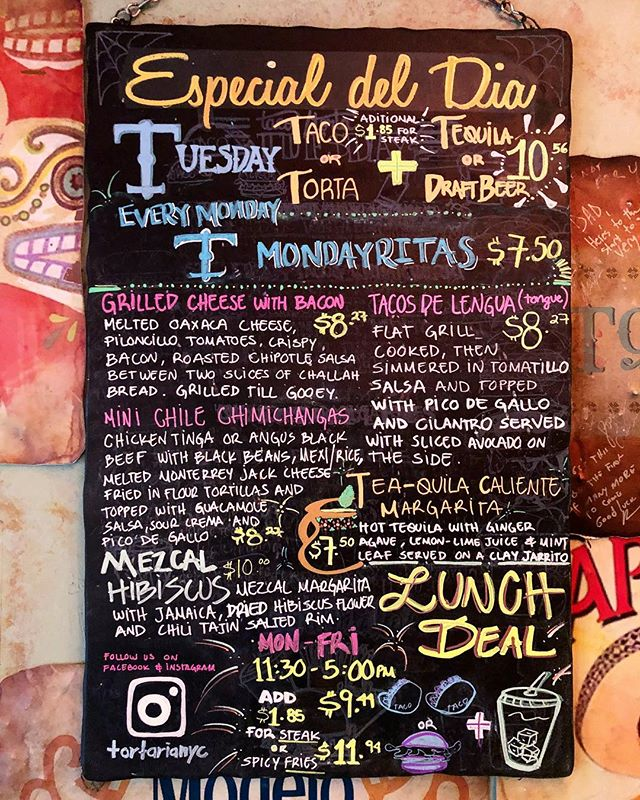 Our new weekly specials board is up!