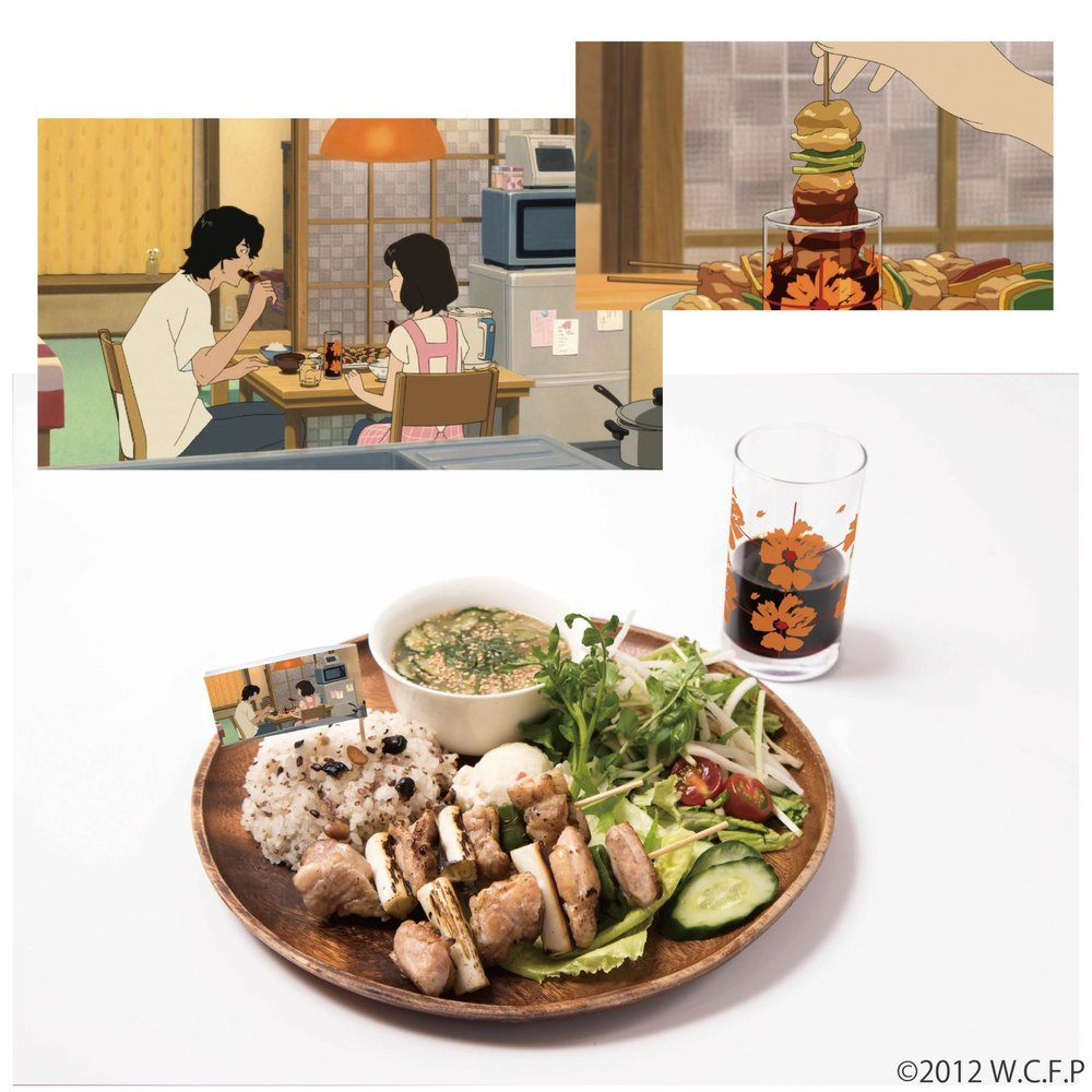 やってみたかった! 花の追いダレ串焼き と 韮崎のおじいちゃん直伝ジャガイモを使った ポテトサラダのプレート