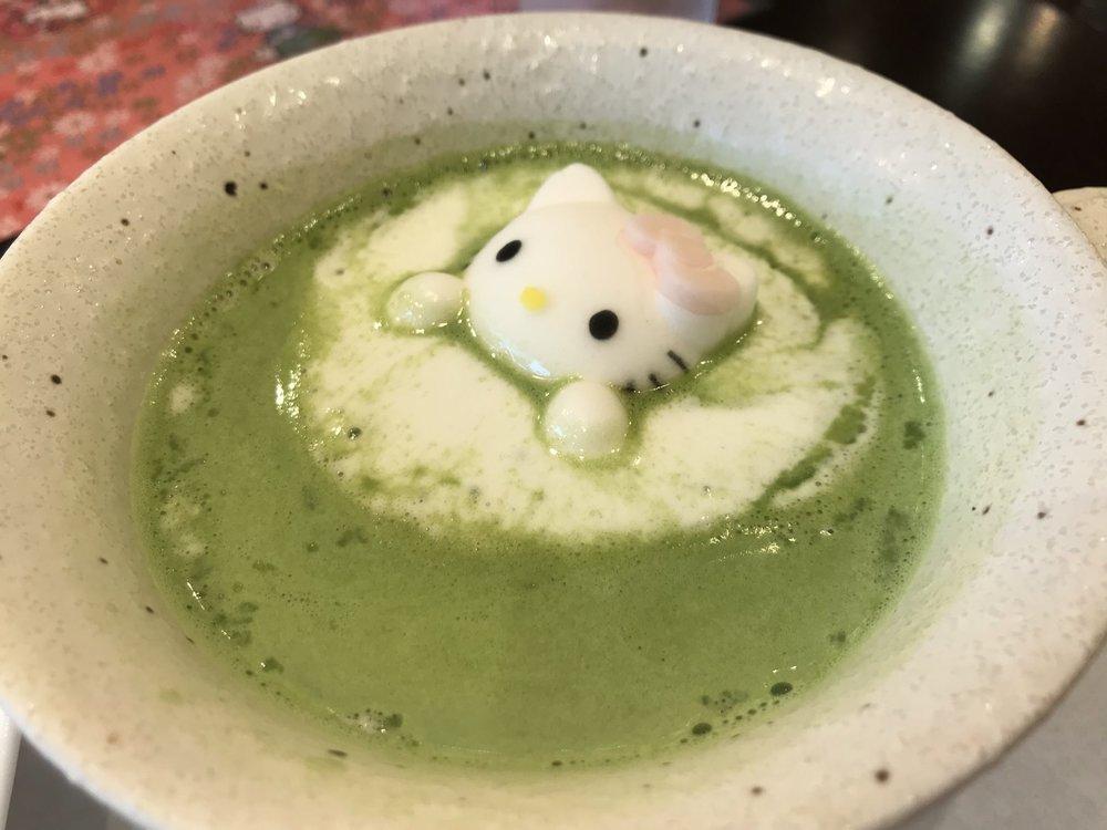 はろうきてぃ おもてなし抹茶ラテ(ホット)