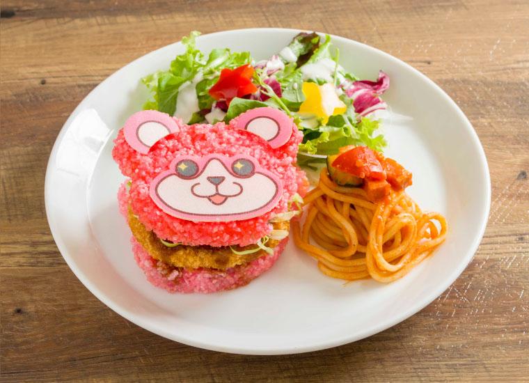 ミッシェルのライスバーガープレート ~北沢精肉店のコロッケをはさんで~