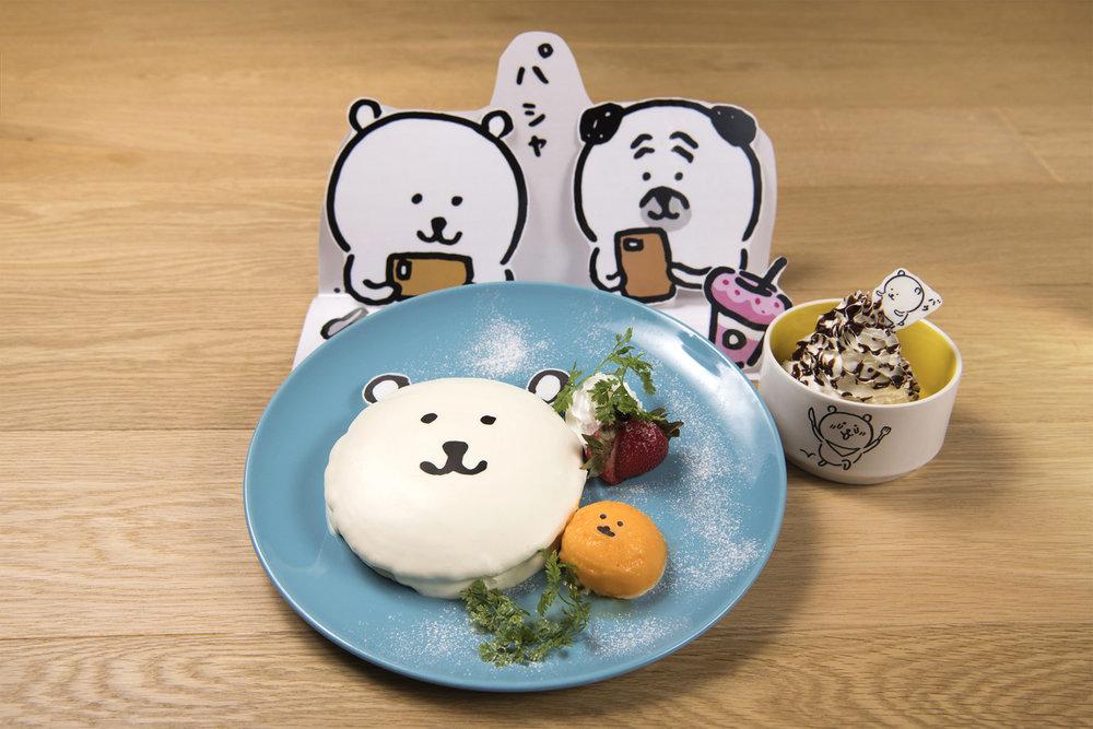 自分ツッコミくまパンケーキ〜パシャッと撮影、バウっとチョコソースホイップクリーム〜