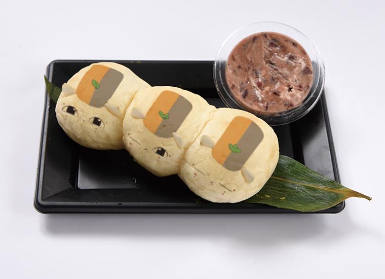 トリプルニャンコのおだんご風ちぎりパン