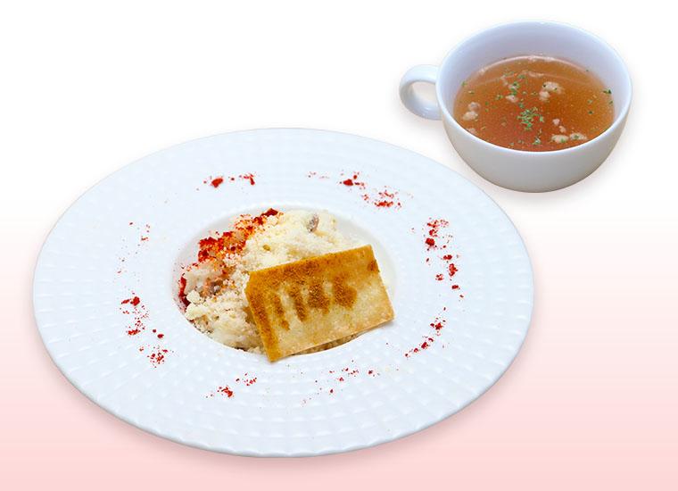 白血球(好中球)のチーズリゾット ※スープ付 ¥ 1,080(税抜)