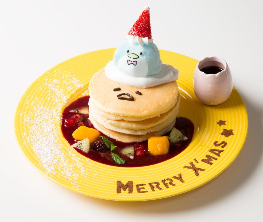 2018年タキシードサム×ぐでたまクリスマスパンケーキ.jpg