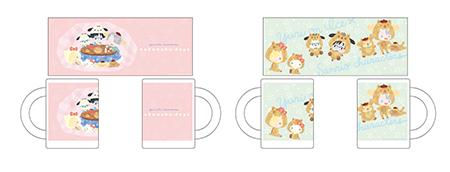 マグカップ nukunuku・days ver&イノシシver. 全2種 価格:各 1,500円(税抜)