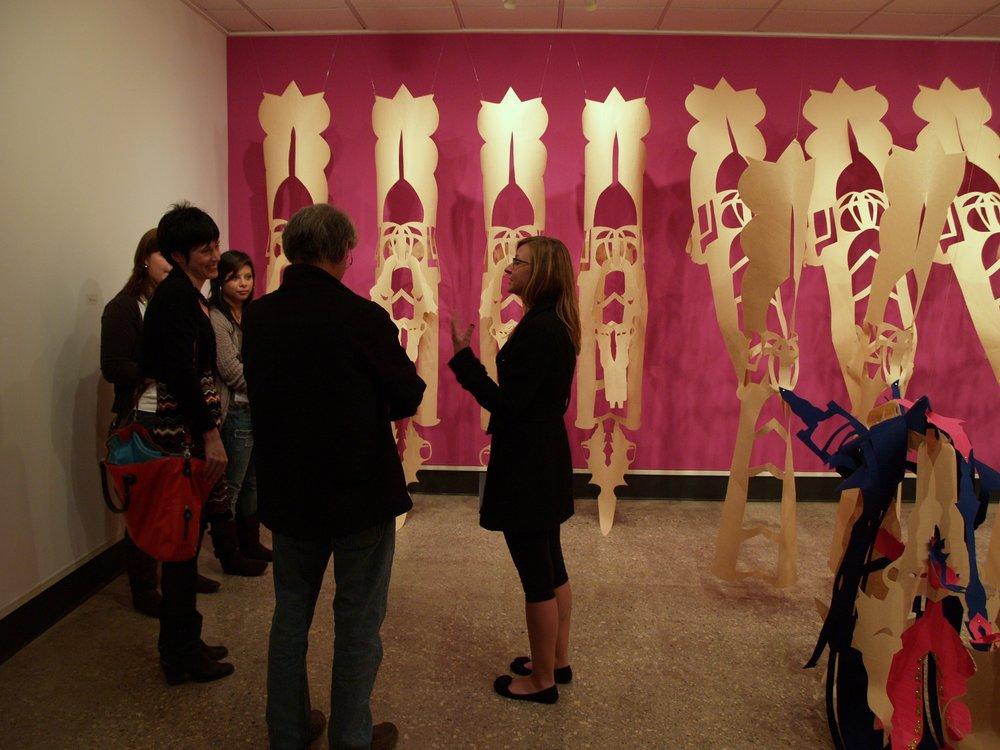 Exhibition reception