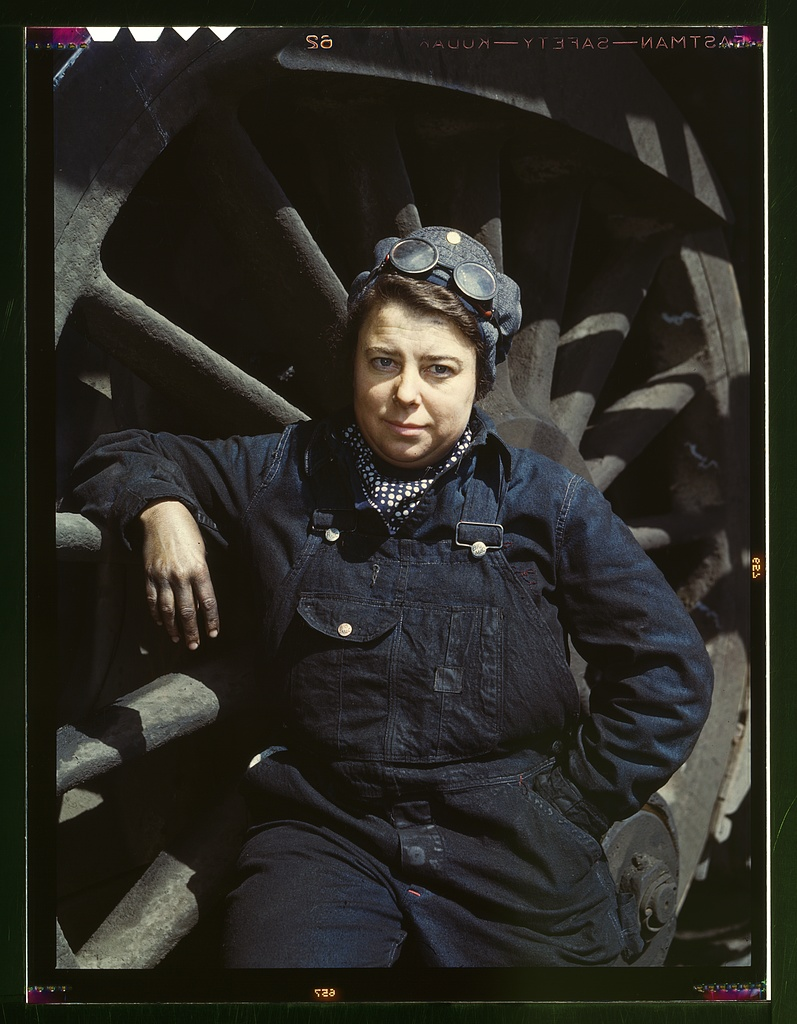 Chicago & North Western R.R., Dorothy Lucke, employed as a wiper at the roundhouse.   Source