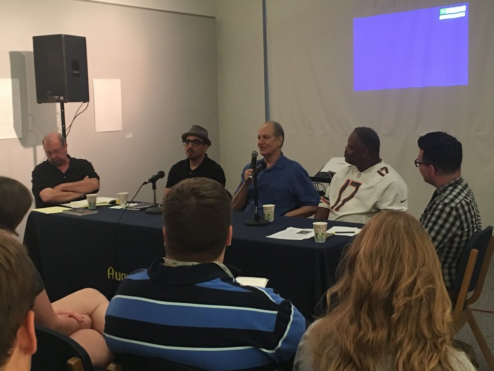Hy Thurman, Antonio Lopez, Michael James and Stan McKinney discuss the Rainbow Coalition, moderated by Brian Lovato
