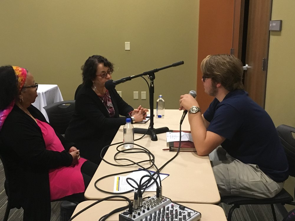 Joan McCarty and Iris Morales, interviewed by WAUG during the Fall 2017 Symposium Day at Augustana College.