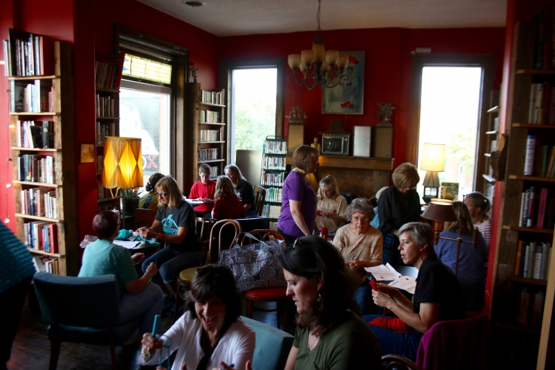 September Crochet-In at Rozz-Tox (photo courtesy of Augustana Photo Bureau)