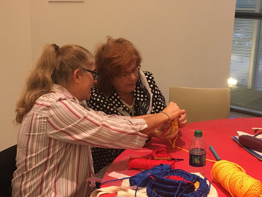 October Crochet-In at the Figge Art Museum
